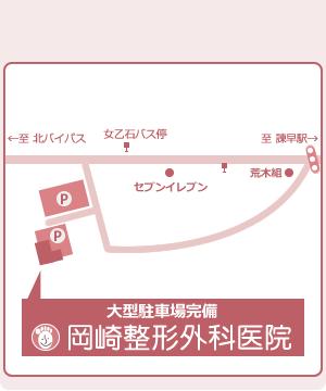 岡崎整形外科医院の地図